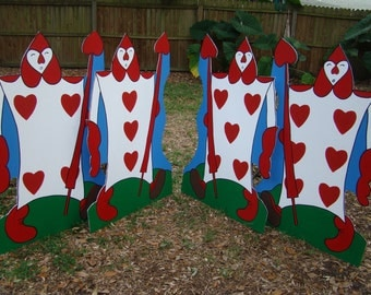 ONE - 4' height - Card Soldier (Alice in Wonderland) Party Prop and Art or Set Decoration