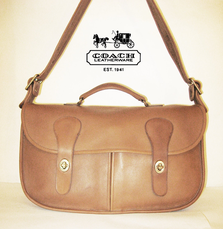 coach musette messenger saddle field book bag