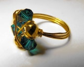 Zelda's Zora's Sapphire Wire Wrapped Ring