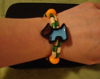 Custom Dog Kandi Double Row Bracelet