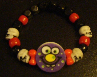 Custom Monster Kandi Bracelet with Skull Beads
