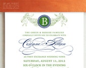 CORINNE. Classic Wedding Invitation Suite Deposit