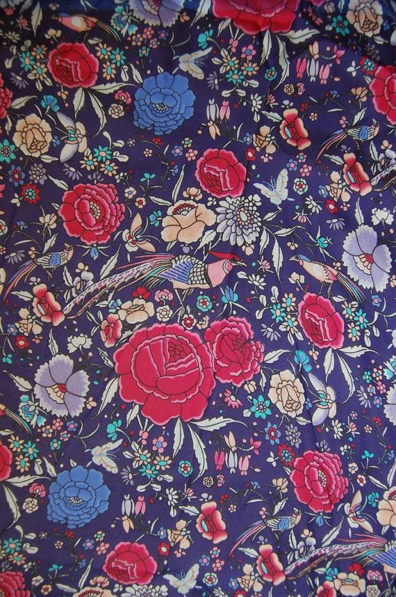 Blue Printed Silk Chiffon