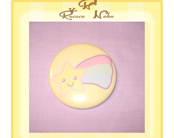 Shooting star 2.25 inch pinback button