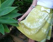 Custom Listing for Alena - Lime Doily Print Skirt