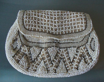 Vintage Handbeaded Tiny Palm Size Bag