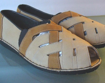Vintage Rieker Woven Leather Shoe Size 5.5