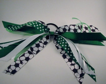 Green and White Soccer Girl Pony O