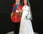 Custom Cake Topper - HRH the Duke and Duchess of Cambridge Wedding....Prince William and Kate Middleton