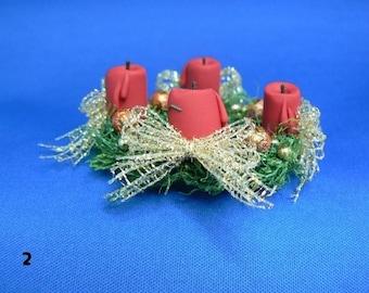 Christmas Wreath  1 : 12  OOAK  by  Fairytaledreams