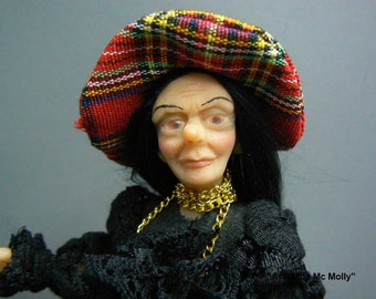 "Dollhouse doll 1 : 12 ""Witch""  OOAK  by  Fairytaledreams"