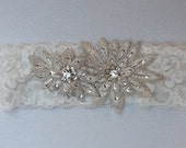 Vintage style wedding garter