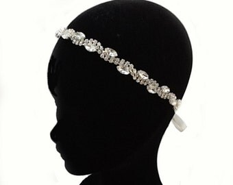 Rhinestone chain hairband
