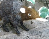 Shrew - Needle felted animal - - Fast Shipping - Made to Order
