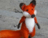 Red Foxy - Needle felted animal, red fox animal, figure of collection