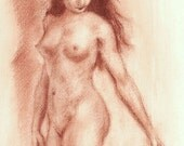 Classic Female Nude - Limited Edition archival art print  - 10x7 inches