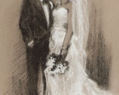 Fine Art Custom Portrait (Reserved for Cassie) - Charcoal Drawing by Portrait Master - Custom Portrait