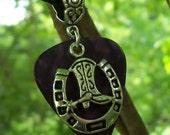 Horseshoe Guitar Pick Necklace