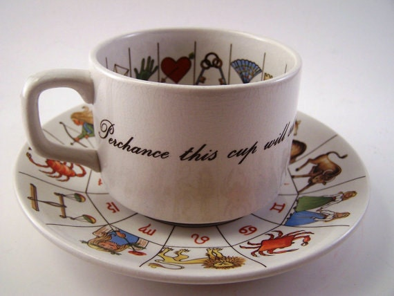 Taltos Fortune Telling Tea Cup, Zodiac Signs, Jon Anton Ironstone Made in England