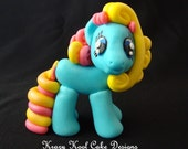 Little Pony Cake Topper In Blue