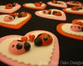 Valentine's Day Ladybug Cupcake Toppers