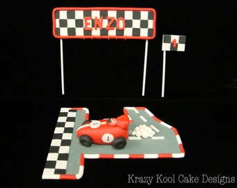 Race Car Cake Topper Set
