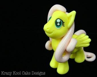 Yellow Little Pony Cake Topper