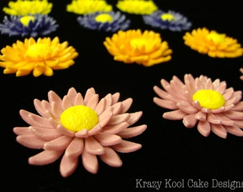 Gerbera Daisy Cupcake Toppers Or Cake Decorations