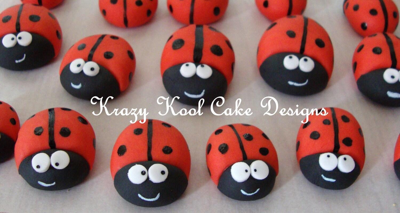 Ladybug ornaments - Ladybug Cake Toppers