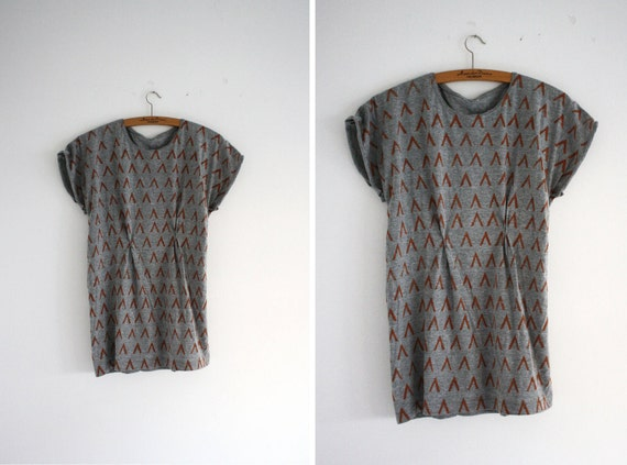 Shirt - grey/rust(fox) - little forest