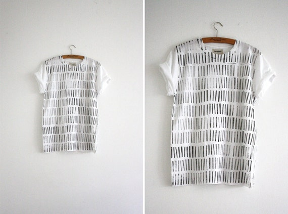 Shirt  // white / grey // Stripes