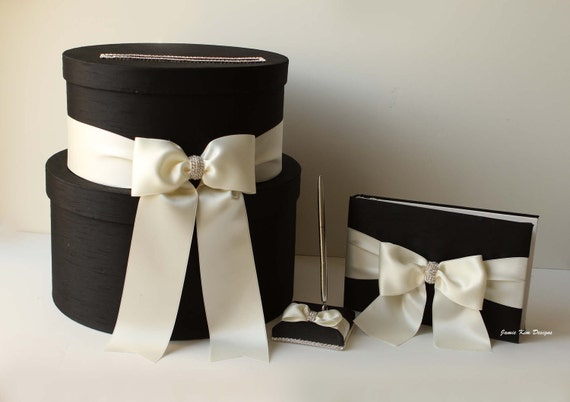 Wedding Card box, Guestbook and Pen Set-  (Reserved)