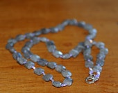 Labradorite Pillow Bead Necklace 1