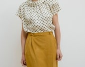 Vintage yellow mustard coloured wrapped-around skirt (XS-S)