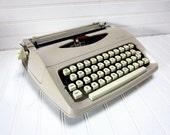 Vintage Typewriter Royal Parade Taupe Portable Manual Typewriter