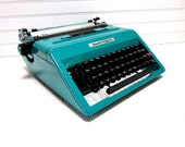 RESERVED FOR KATHRYNMARY Vintage Typewriter Teal Blue Olivetti Studio 45 Manual Typewriter Aqua Blue