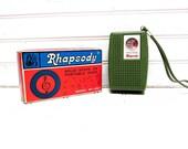 RESERVED for cardoso72 -- Vintage Radio Green Rhapsody Model RY 657 Solid State Transistor AM Radio