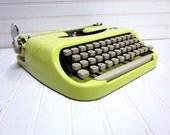 Vintage Typewriter Yellow Royal Royalite '64 Portable Manual Typewriter