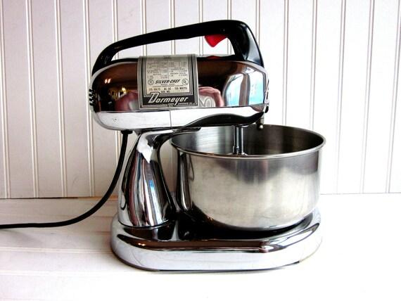 Vintage Dormeyer Mixer Chrome Dormeyer Silver-Chef 10 Speed Chrome Stand Mixer