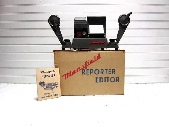 Vintage Film Editor Mansfield Reporter Model 650 8mm film Editor