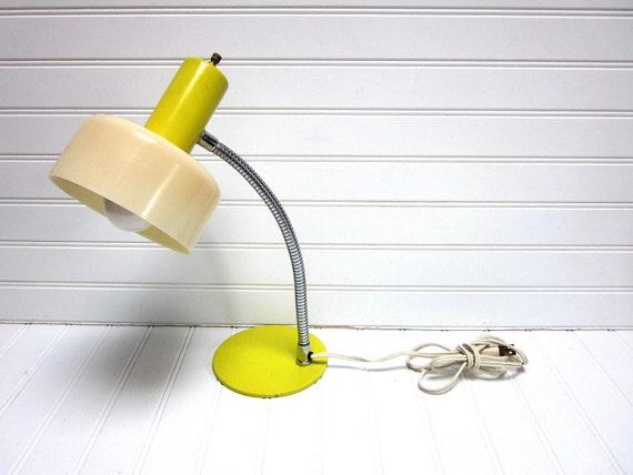 Vintage Lamp Yellow Mobilite Mid Century Goose Neck Desk Lamp