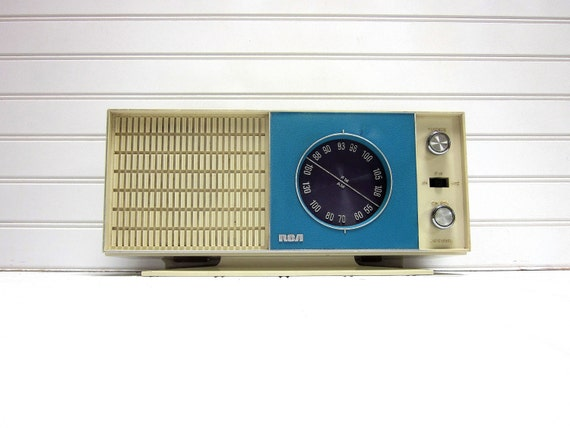 Reserved for Karly -- Vintage Radio Blue Purple Mid Century RCA Model rzc 230a AM FM Radio