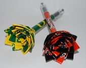 Duct Tape Flower Pens-Set of 2 (MADE TO ORDER)