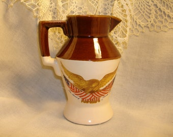 MCCOY POTTERY Creamer with  EAGLE Design Bar ware, Kitchenware, Tableware, Collectible Mccoy, Housewarming gift, Hostess gift