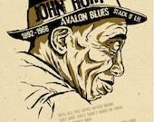 "Mississippi John Hurt  Poster- signed by Grego - digital - blues folk art - big 12""x18"" - mojohand.com"