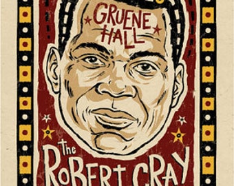 "12""x18"" original concert poster - ROBERT CRAY - Austin, Texas signed by the artist"