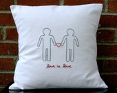 Accent Pillow Cover - Love is Love - Man & Man Couple Decorative Pillow