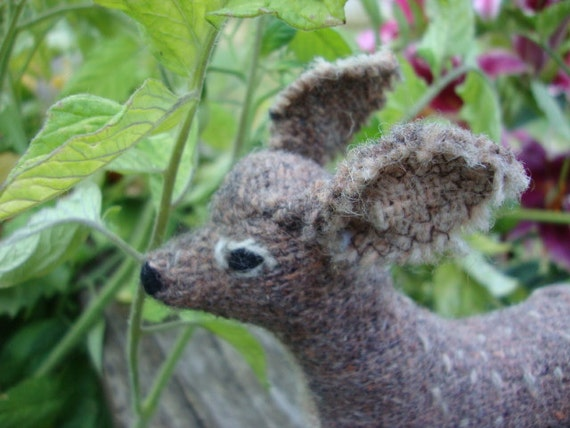 Amazing OOAK Handcrafted Fabric Art Deer