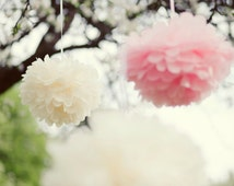 45 mixed sizeTissue paper pompoms value set - wedding decorations -  party decor - pick your colors from 64 shades - very fluffy