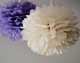 2 Large Tissue Pom Pom - pick your colors